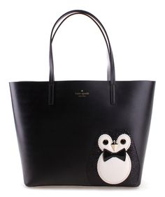 Take a look at this Kate Spade Black & White Penguin Little Len Clifton Lane Tote today!