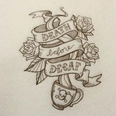Hey, I found this really awesome Etsy listing at https://www.etsy.com/listing/211012364/embroidered-design-death-before-decaf