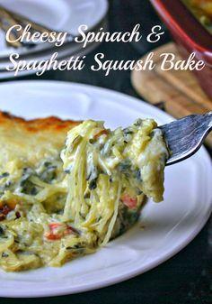Creamy Spinach & Spaghetti Squash Bake | Life, Love, and Good Food
