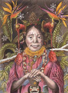Adam Latham, Girls, Art, Drawings, Illustration, Tropical, Exotica,