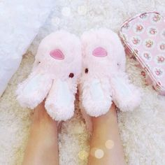 Slippers - the girlier, the better 😅 Bunny Slippers, Cute Slippers, Pink Love, Pretty In Pink, Visual Kei, Barbie Princess, Princess Palace, Princess Anna, Rose Bonbon