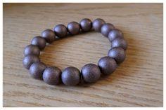 Silvia Jewellery of Style: Bracciale elastico marrone metallizzato