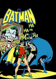 Batman, Robin and the Joker by one of my favourite artists Neal Adams! Batman Robin, Batman 1966, I Am Batman, Batman Comic Art, Superman, Gotham Batman, Batman Poster, Joker Art, Nightwing