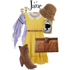 """Jane Porter: Disney's Tarzan"" by inknpaint on Polyvore so adorable!"