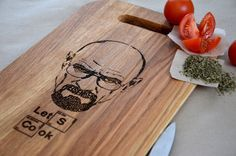 Breaking Bad Custom Engraved Cutting Board Light Brown Let's Cook Anniversary Gift Christmas Personalized. Gift idea. Heisenberg