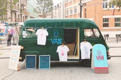 Welcome to the Print Van Paris. A converted ice cream van that serves as a  mobile screen printing van offering the public to print screen  print limited edition t-shirts, posters and other printed goodies on the  streets of Paris, France.