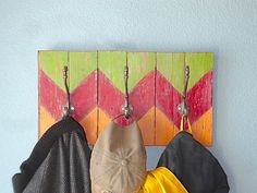 Chevron Coat Rack Made from Reclaimed Wood by TheArtofChic on Etsy