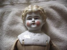 Vintage Large Blonde China Head Doll | eBay