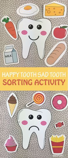 Happy tooth sad tooth dental health sorting activity / game for preschoolers, kindergartners and older kids. Use the template to play this game and talk about taking care of our teeth, how to properly brush our teeth, how to floss and avoid cavities. Health Activities, Sorting Activities, Body Preschool, Preschool Activities, Teeth Games, Dental Health Month, Dental Kids, Hygiene, Funny Memes