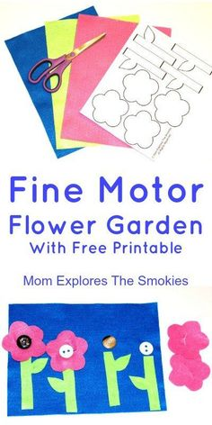 Build a colorful flower garden with this fun fine motor activity for kids.