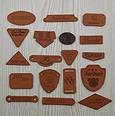 WellieSTR Fashion 18 Stlye PU Leather Garment Labels Tag Shoes Bag Clothes Sewing Patches Zakka DIY Craft