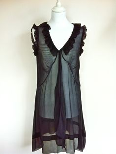 Marc by Marc Jacobs Black Silk Chiffon Dress Size 38 via The Queen Bee. Click on the image to see more!