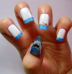 Jaws - Creative Nail Art by Kayleigh O'Connor