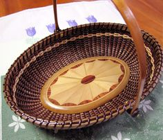 10inch Oval tray with marquetary