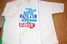 "Vintage 1990 Diet Pepsi Ray Charles Promo ""You Got the Right One Baby"" Retro Tshirt. $14.50, via Etsy."
