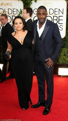 Idris Elba & girlfriend Naiyana  Garth
