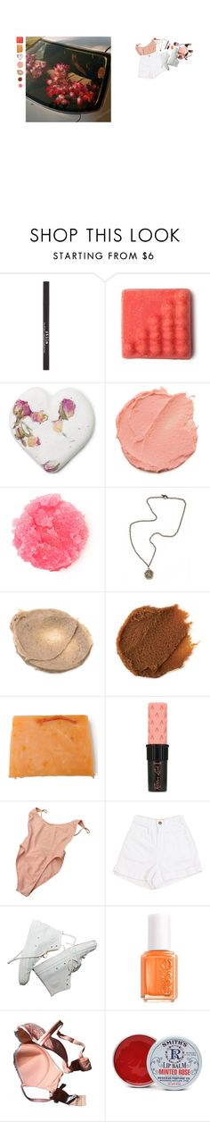 """""""B mine (see description)"""" by apugh13 ❤ liked on Polyvore featuring Stila, French Kande, Benefit, American Apparel, Essie, Chantal Thomass and Rosebud Perfume Co."""