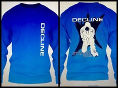 Image of Decline long sleeve blue