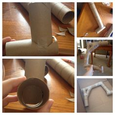 Tube tunnel I made for my hamster. Really fun and a little time consuming, but she loves it! Very fun diy!