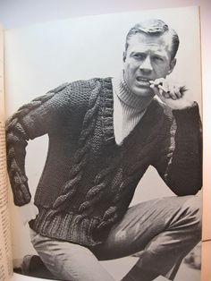 Vintage men men sweater and wool on pinterest