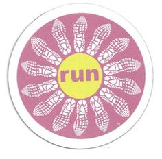 Old Style Run Flower magnet from Lift Your Sole $1.95  http://www.liftyoursole.com/products/run-flower-magnet