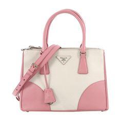 1e9e63916927 Prada Tote Bag - Bicolor Double Zip Lux Tote Saffiano Leather Small Leather