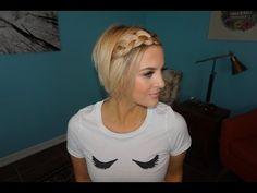 Waterfall Braided Bangs | Short Hair Tutorial - YouTube
