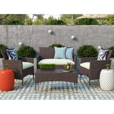 Found it at Joss & Main - 4-Piece Poppy Patio Seating Group