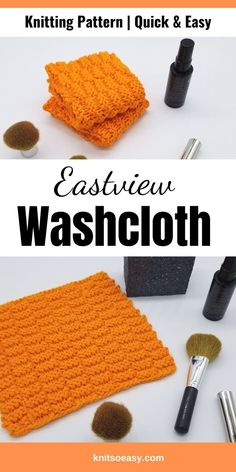Eastview washcloth knitting pattern has a rectangle checkerboard design that is easy to memorize and get into your knitting rhythm groove. Quick & easy! #knitsoeasy #knitted washcloth pattern #simple washcloth knit pattern #knitting pattern #knit dishcloth pattern easy