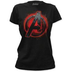 Click here: Black Widow Assemble Avengers Age Of Ultron Juniors T-shirt (Medium, Black)