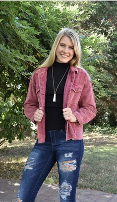 Pick Me Pink Corduroy Jacket Pink Corduroy Jacket, Girls Boutique, Pink Love, Color Pop, Sweaters, Jackets, Collection, Fashion, Down Jackets