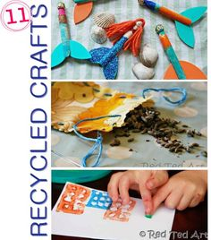 Here are some easy and fun craft ideas to do with your kids from Recycled items #DIY
