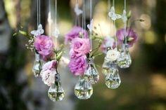 подвесные вазы из лампочек накаливания