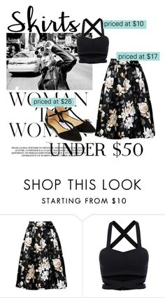 """""""Untitled #416"""" by insidersrose ❤ liked on Polyvore featuring Accessorize, under50 and skirtunder50"""