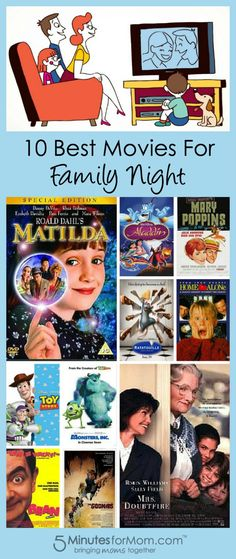 10 Best Family Movies for Movie Night