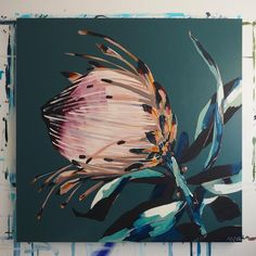 A few new paintings online Monday night! I feel like I'm only just catching up to with this green- about 2 years… Painting Inspiration, Art Inspo, Protea Art, Online Painting, Paintings Online, Art Paintings, Botanical Art, Beautiful Paintings, Oeuvre D'art