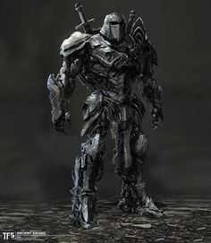 Transformers: The Last Knight Ancient Knight Concept Art By Furio Tedeschi - Transformers News - Transformers Masterpiece, Transformers 5 Movie, Transformers Cybertron, Armor Concept, Concept Art, Samurai Concept, Last Knights, Cyberpunk, Knight Art