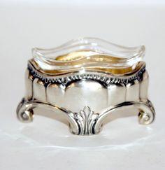 Antique Silver Gold Washed Master Salt Cellar.FrenchGardenHouse.com
