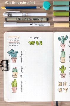 40 Best August Weekly Spread Ideas For Bujos - Crazy Laura - Need some new weekly spread ideas? Check out these 40 super cute BUJO spreads for inspiration! Bullet Journal Notebook, Bullet Journal School, Bullet Journal Spread, Bullet Journal Layout, Bullet Journal Inspiration, Bujo Weekly Spread, Bullet Journal Aesthetic, Journal Themes, Journal Ideas