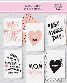 Mother's Day Cards  6 different printable por MissMprintableStore