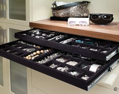 built in jewelry drawers
