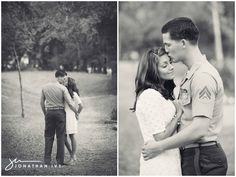 Military Themed Engagement Photos | Jonathan Ivy