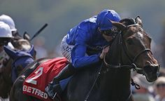 Beautiful Romance, in the Godolphin blue, James Doyle, comes home first to win the Betfred Middleton Stakes for Saeed bin Suroor. York, 12.05.2016