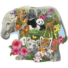 - Baby Zoo Animals 300 Large Piece Jigsaw Puzzle