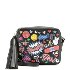 Anya Hindmarch | Black All Over Stickers Leather Shoulder Bag | Lyst http://www.lyst.com/bags/anya-hindmarch-all-over-stickers-leather-shoulder-bag/?reason=feed-product