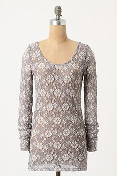This is a pretty gray & ivory top.