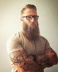 Tattoo Arm Men Hipster Beards 25 Ideas For 2019 Moustache, Beard No Mustache, Hipster Noir, Hipster Man, Grey Beards, Long Beards, Long Beard Styles, Hair And Beard Styles, Beard And Mustache Styles
