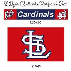 Looking for your next project? You're going to love St Louis Cardinals crochet graph  by designer CrochetInfinity.