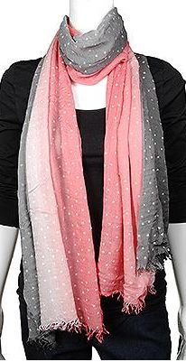 Pink and Grey Ombre Heart Scarf! Love love love!