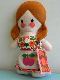 Peggy Doll Handmade by alice apple purchase via Etsy - love the red hair!